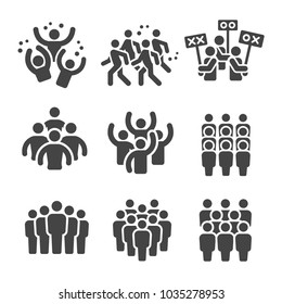 crowd,group icon set