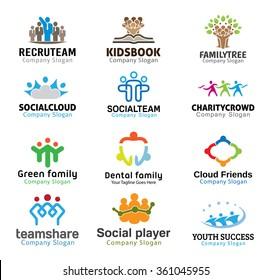 Crowds Team Business Design illustration