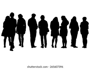 Crowds of young guy and girl on white background