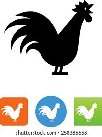 Crowing rooster icon