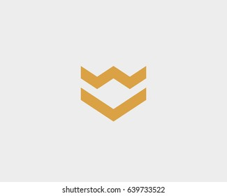 Crown arrow shield premium logo. Luxury construction vector logotype. Abstract universal minimal icon