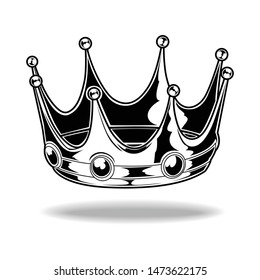 Crown Black And White King Queen Vector 11