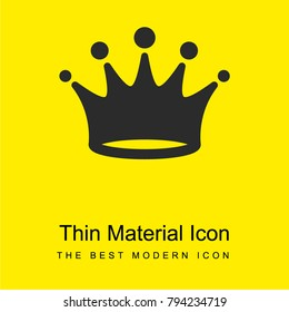 Crown bright yellow material minimal icon or logo design