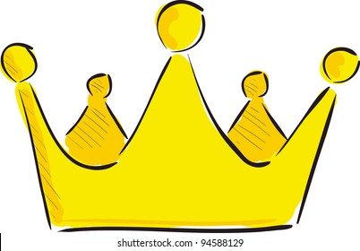 Cartoon Crown Images Stock Photos Vectors Shutterstock Yellow crown illustration, cartoon icon, floating cartoon crown transparent background png clipart. https www shutterstock com image vector crown cartoon sketch vector illustration 94588129