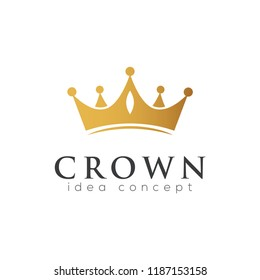 Crown Concept Logo Design Template