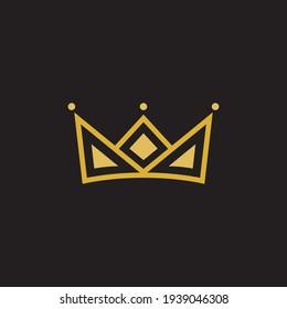 Crown Concept Logo Design Template