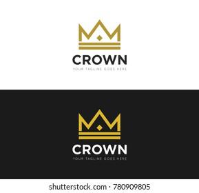 crown concept logo, icon, symbol, ilustration design template