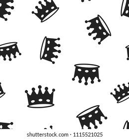 Crown diadem icon seamless pattern background. Business concept vector illustration. Royalty crown symbol pattern.