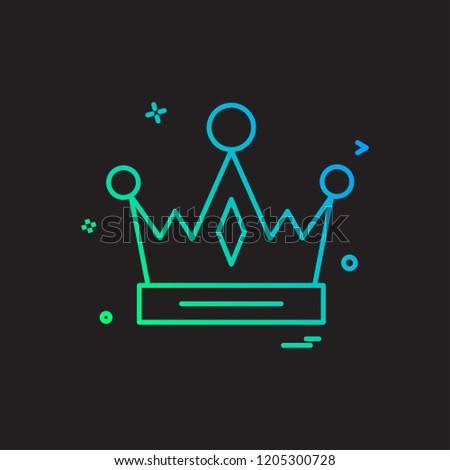 Crown Empire King Icon Vector Design Stock Vector (Royalty