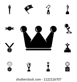 crown icon. Detailed set of Sucsess and awards icons. Premium quality graphic design sign. One of the collection icons for websites, web design, mobile app on white background