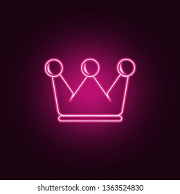 crown icon. Elements of Sucsess and awards in neon style icons. Simple icon for websites, web design, mobile app, info graphics
