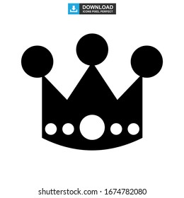 crown icon or logo isolated sign symbol vector illustration - high quality black style vector icons