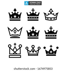 crown icon or logo isolated sign symbol vector illustration - Collection of high quality black style vector icons