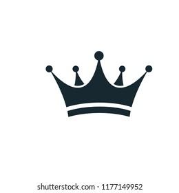 crown icon logo template