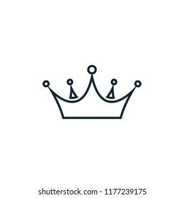 crown icon logo template