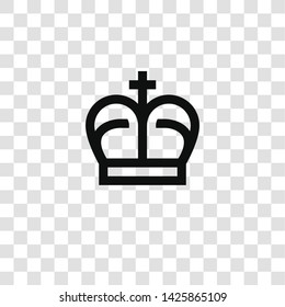 crown icon from miscellaneous collection for mobile concept and web apps icon. Transparent outline, thin line crown icon for website design and mobile, app development