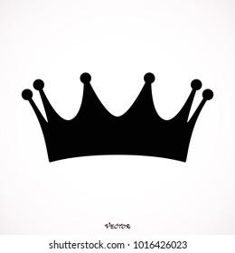 Crown icon. Single high quality outline symbol for web design or mobile app. Black outline pictogram on white background