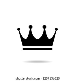 Crown Icon in trendy flat style isolated on white background. Crown symbol for your web site design, logo, app
