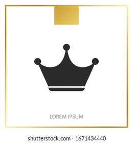Crown Icon in trendy flat style
