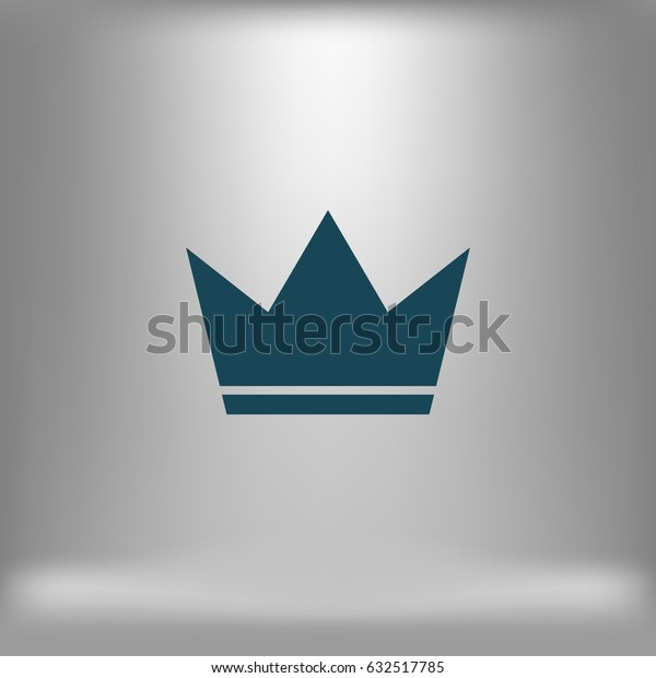 Crown Icon in trendy flat style isolated. Crown symbol for your web site design, logo, app. Vector illustration