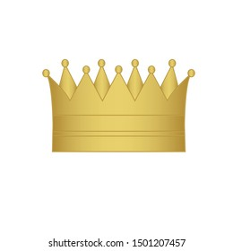 crown icon vector. Golden  crown  sign