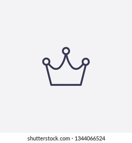 crown icon.Outline crown vector, illustrated icon for modern web and mobile design