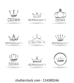 Crown icons set. Vol 2.