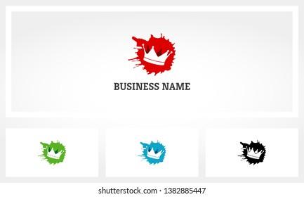 Crown King Blood Splat Logo