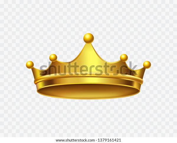 Crown King Isolated On Transparent Background Stock Vector Royalty Free 1379161421