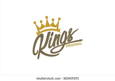 Crown and King typography