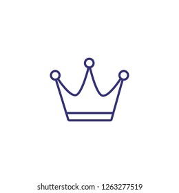 Crown line icon. Crown on white background. Festival concept. Vector illustration can be used for topics like greeting, party, festival, carnival