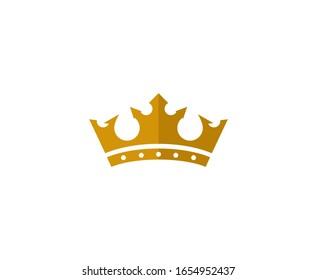 Crown logo icon gold design