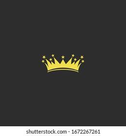 Crown logo Icon template design in Vector illustration