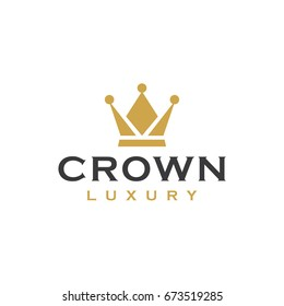 crown logo icon vector template