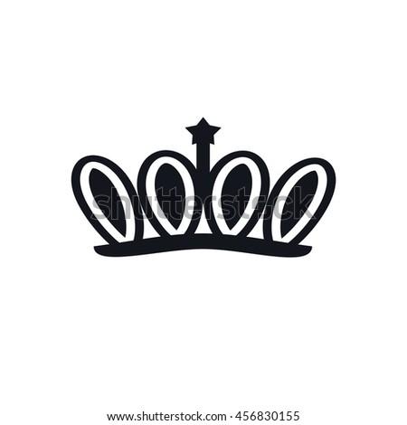 Crown Logo King Royal Queen Symbol Stock Vector Royalty Free