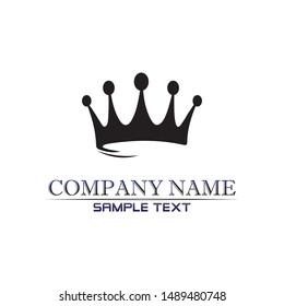 Crown Logo and king Template vector illustration