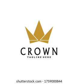 crown logo. Queen King Princess Crown Royal beauty luxury elegant logo design