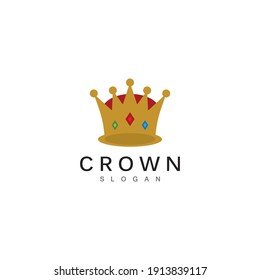 Crown Logo and symbol template illustration icon