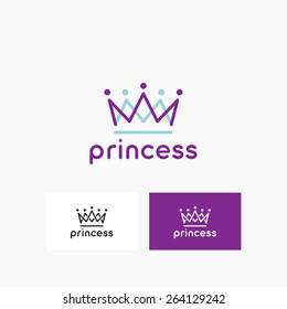 Crown logo template - vector icon