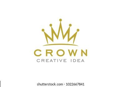 Crown Logo and Vector Template