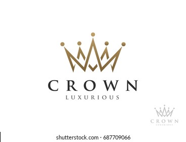 Crown Logo Vector Template