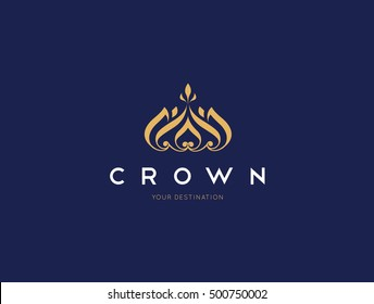 crown luxury logo template
