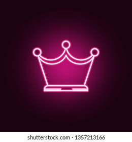 crown neon icon. Elements of jewelry set. Simple icon for websites, web design, mobile app, info graphics