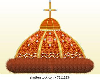 Crown of Russian tsar - the Cap of the Monomah, stylization