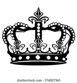 Crown Silhouette Clip Art Design Vector. Cut File Design Art.