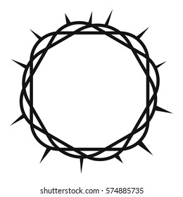 Crown of thorns icon. Simple illustration of crown of thorns vector icon for web