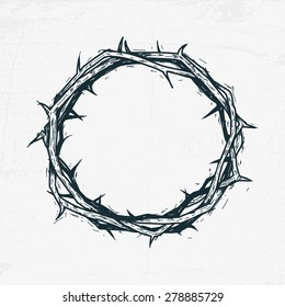 Crown Of Thorns Jesus Christ Sketch Handmade