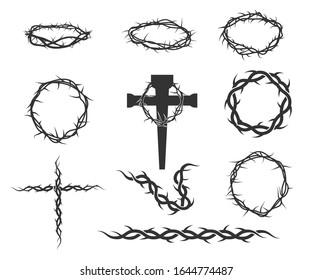 Crown Thorns Sign Symbol Icon Printable Vector Design