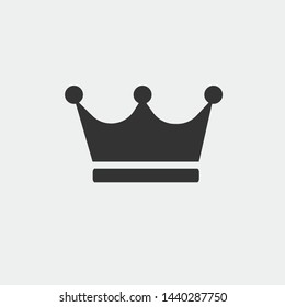 Crown vector icon illustration sign