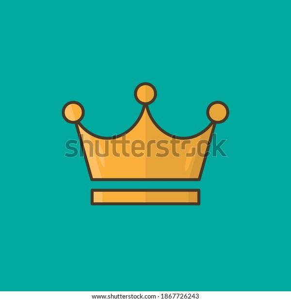 Crown vector, object illustration, crown design minimalism, king symbol